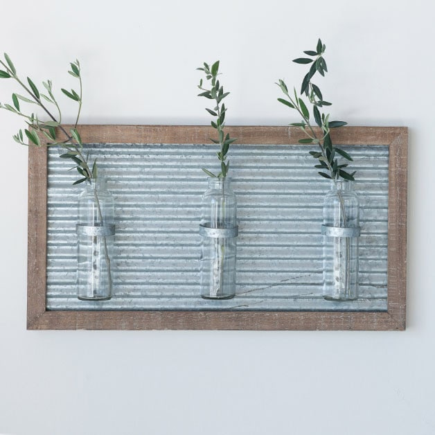 Metal Wood Sconce
