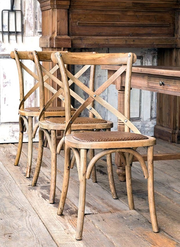 wooden farmhouse dining chairs