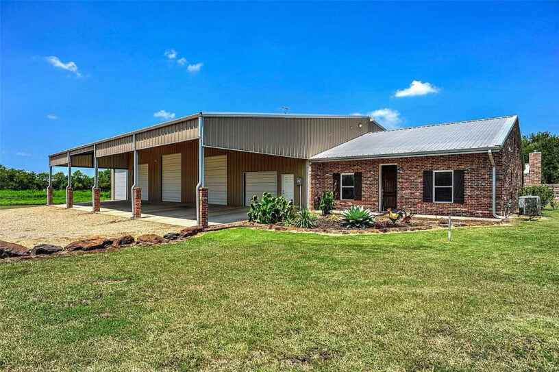 Sherman, Texas Metal Home with Brick